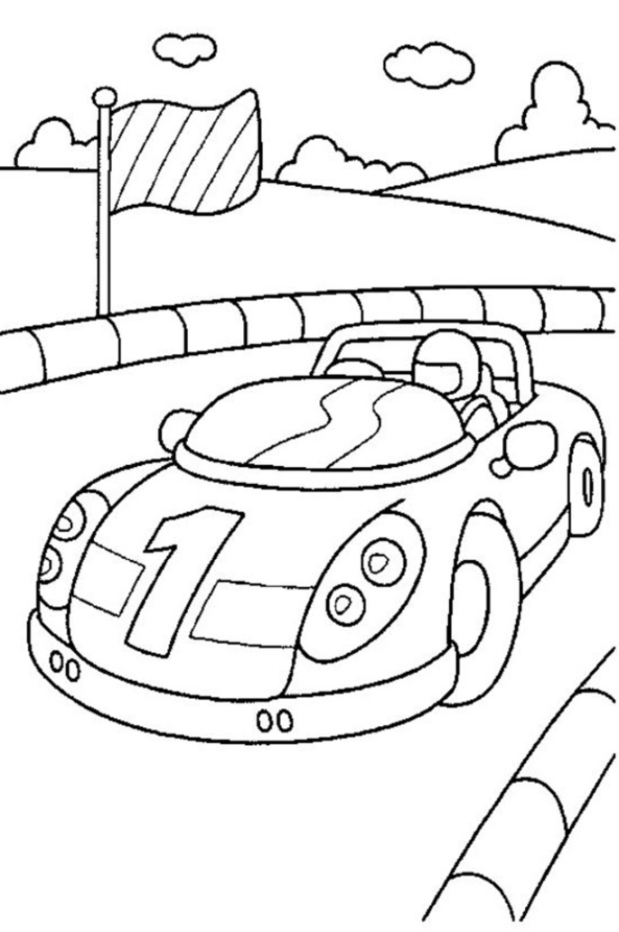 car coloring pages to print - photo#47