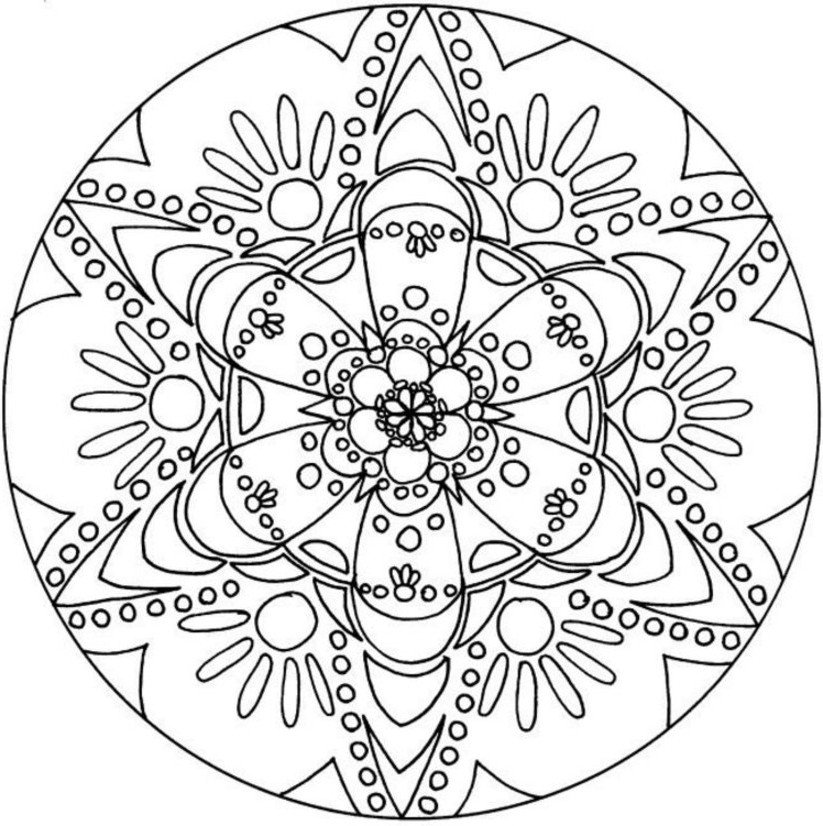 This is just one of 4 kaleidoscope coloring pages.