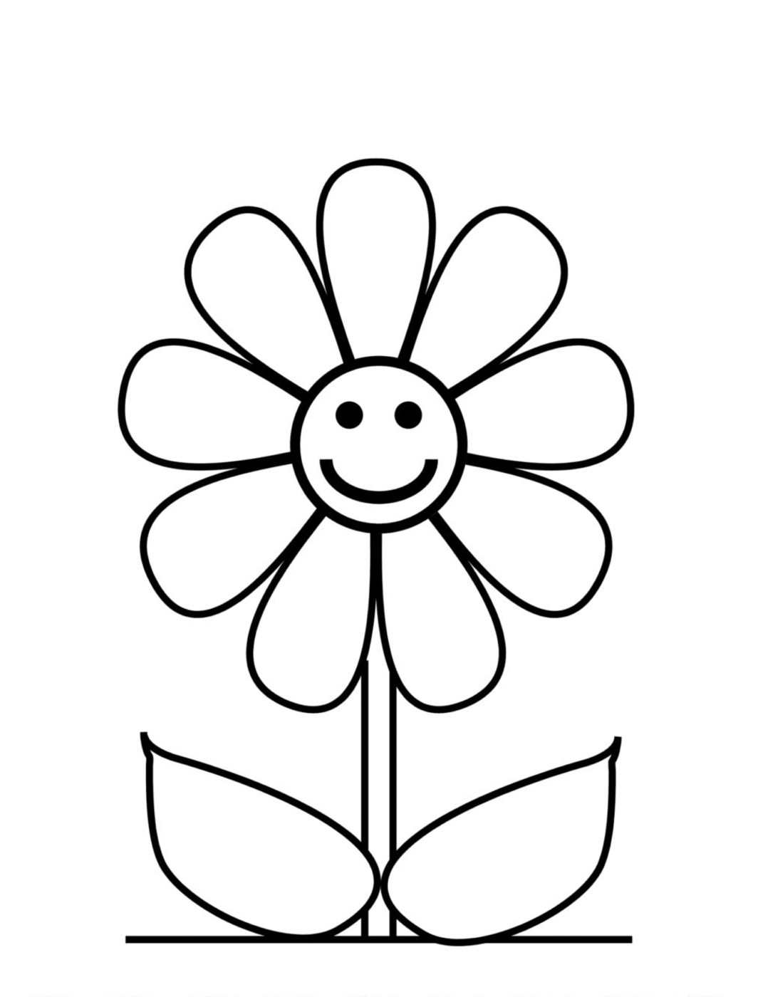 coloring pages of a flower - photo#3