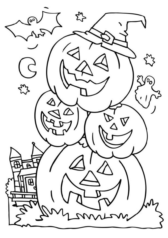 Halloween coloring pictures coloring town for Halloween pictures to colour in